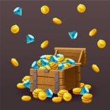 Le icone conia, cristalli blu, pietre preziose, gemme, diamanti Fotografia Stock