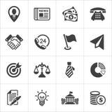Le icone d'avanguardia dell'economia e di affari hanno messo 1 Vettore Fotografia Stock