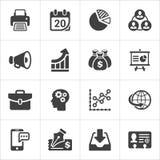 Le icone d'avanguardia dell'economia e di affari hanno messo 2 Vettore Fotografia Stock Libera da Diritti