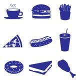 Le icone degli alimenti a rapida preparazione hanno messo eps10 Illustrazione di Stock