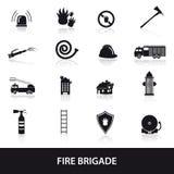 Le icone dei vigili del fuoco hanno messo eps10 Fotografia Stock Libera da Diritti