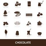 Le icone del cioccolato hanno messo eps10 Fotografia Stock Libera da Diritti