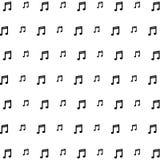 Le icone del fondo di musica hanno messo le grande per tutto l'uso Vettore eps10 Fotografie Stock