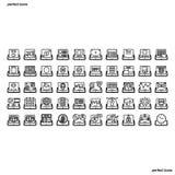Le icone del profilo dell'applicazione della compressa perfezionano il pixel royalty illustrazione gratis