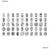Le icone del profilo di Smartphone perfezionano il pixel royalty illustrazione gratis