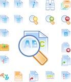 Le icone del sistema di editazione testi hanno impostato 2 Immagine Stock Libera da Diritti