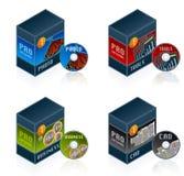 Le icone del software hanno impostato 57 e Immagine Stock Libera da Diritti
