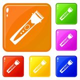 Le icone del tagliatore hanno fissato il colore di vettore royalty illustrazione gratis
