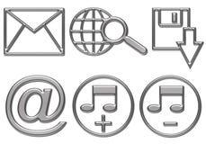 Le icone del tasto di Web sono pronte Fotografia Stock Libera da Diritti