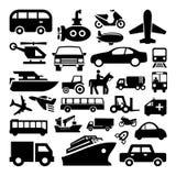Le icone del trasporto messe grandi per c'è ne usano Vettore eps10 Fotografie Stock Libere da Diritti
