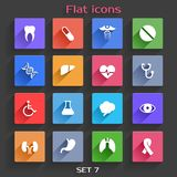 Le icone dell'applicazione piane hanno messo 7 Fotografia Stock