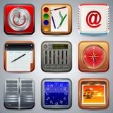 Le icone dell'applicazione vector l'insieme royalty illustrazione gratis