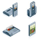Le icone dell'hardware di calcolatore impostano - progetti gli elementi 55f Immagine Stock