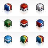 Le icone della bandierina hanno impostato - gli elementi 56c di disegno Immagini Stock Libere da Diritti