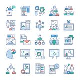 Le icone della gestione di impresa imballano royalty illustrazione gratis