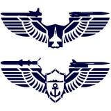 Le icone della marina e della marina illustrazione di stock