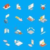 Le icone della medicina 3d di Digital hanno fissato la vista isometrica Vettore Immagine Stock Libera da Diritti
