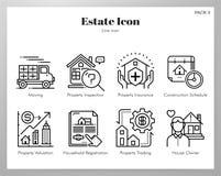 Le icone della proprietà allineano il pacchetto illustrazione di stock