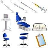 Le icone dentali hanno impostato 2 Fotografia Stock