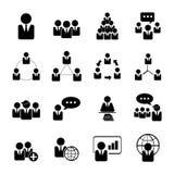 Le icone di affari, della gestione e della risorsa umana hanno fissato l'ENV 10 Fotografia Stock