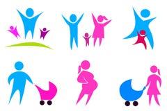 Le icone di concetto 'nucleo familiare' hanno impostato 02 Fotografia Stock