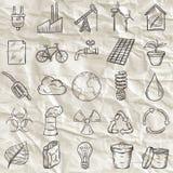 Le icone di ecologia hanno impostato Fotografie Stock Libere da Diritti