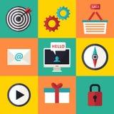 Le icone di infographics di web hanno messo per il sito di affari, le presentazioni ecc Immagini Stock