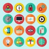 Le icone di infographics di web hanno messo per il sito di affari, le presentazioni ecc Fotografia Stock