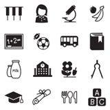 Le icone di istruzione scolastica di asilo Vector il simbolo 2 dell'illustrazione Fotografia Stock Libera da Diritti