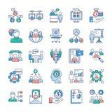 Le icone di lavori e di affari imballano illustrazione di stock