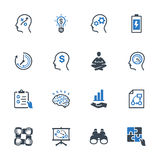 Le icone di miglioramento di produttività hanno messo 2 - serie blu illustrazione vettoriale