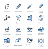 Le icone di sanità & mediche hanno messo 1 - attrezzature & rifornimenti Immagine Stock Libera da Diritti