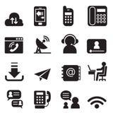 Le icone di tecnologia della comunicazione hanno messo 2 royalty illustrazione gratis