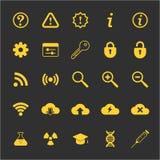 Le icone di tecnologia e di scienza hanno messo per il web ed il cellulare Fotografie Stock Libere da Diritti