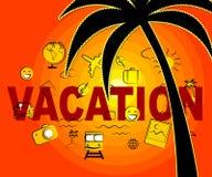 Le icone di vacanza indica la festa ed il segno di vacanze Immagini Stock Libere da Diritti