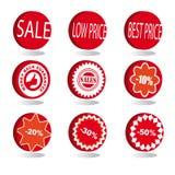 Le icone di vendita hanno impostato Fotografia Stock