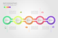 Le icone di vettore e di vendita di progettazione di infographics di cronologia possono essere u royalty illustrazione gratis