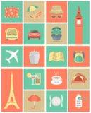 Le icone di viaggio hanno messo 1 royalty illustrazione gratis