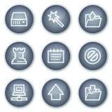 Le icone di Web di dati, cerchio minerale abbottona la serie Immagine Stock Libera da Diritti