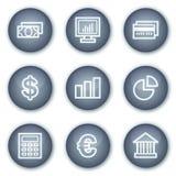 Le icone di Web di finanze hanno impostato 1, tasti minerali del cerchio Fotografia Stock Libera da Diritti