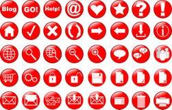 Le icone di Web hanno impostato illustrazione di stock