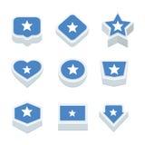 Le icone ed il bottone delle bandiere della Somalia hanno fissato nove stili Fotografia Stock