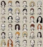Le icone hanno impostato della gente di affari unrecognizable sul cra Fotografia Stock Libera da Diritti