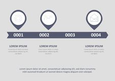 Le icone infographic di vettore e di vendita di progettazione di cronologia possono essere usate per la disposizione di flusso di illustrazione vettoriale