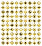 Le icone nere hanno impostato 3 Fotografie Stock Libere da Diritti