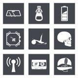 Le icone per le applicazioni del cellulare e di web design hanno messo 3 Immagine Stock Libera da Diritti