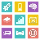 Le icone per le applicazioni del cellulare e di web design hanno messo 5 Immagine Stock