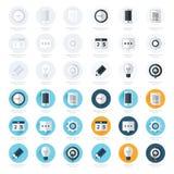 Le icone piane di progettazione di affari hanno fissato 4 stili Immagini Stock Libere da Diritti