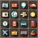 Le icone piane hanno messo per le applicazioni del cellulare e di web Immagini Stock Libere da Diritti
