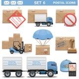 Le icone postali di vettore hanno messo 6 Fotografia Stock Libera da Diritti